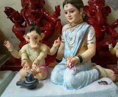 Ganapati and Parvati Shiva Parvati Images, Durga Images, Ganesh Images, Shiva Shakti, Jai Ganesh, Ganesh Idol, Shree Ganesh, Maha Shivaratri Wishes, Ganpati Bappa Wallpapers