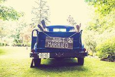 Rustic wedding, barn board signs