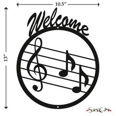 Music Note Notes Clef Black Metal Welcome Sign Ballet Music, Metal Welcome Sign, Presents For Her, Treble Clef, Button Crafts, Music Notes, Metal Signs, Black Metal, Metal Art