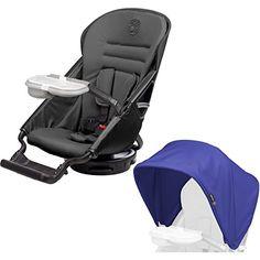 Orbit Baby G3 Stroller Seat, Black + Sunshade, Blueberry