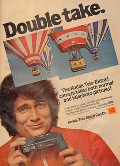 Michael Landon for the Kodak Tele-Ektra1 camera (May 1979)
