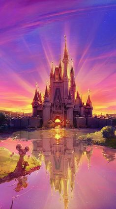 tags : disney color colorful awesome amazing castle disney world disney land magic disney castle beautiful magical disneyworld disneyland Disney Pixar, Walt Disney, Disney And Dreamworks, Disney Magic, Disney Art, Disney Movies, Disney Mural, Punk Disney, Disney Animation