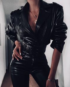 Shop for LPA Leather Pant 417 in Black at REVOLVE. Edgy Outfits, Classy Outfits, Pretty Outfits, Cool Outfits, Fashion Outfits, Womens Fashion, Badass Outfit, Look Fashion, Fashion Design