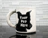 Pet Mug | created from your photo | personalized custom portrait gift idea | dog cat pet animal lover coffee mug tea cup