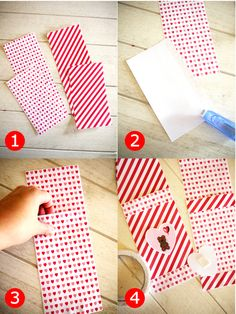 Bird's Party Blog: Valentine's Day Table Setting Ideas: DIY Paper Cutlery Pockets