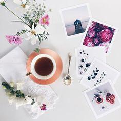 flowers, photo, and tea image