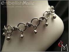 Submissive Jewelry Slave Bells Gorean Kajira: by EmbellishMaille