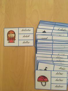 Čtecí kartičky obrázek - slovo Grade 1, Montessori, Struktura