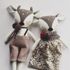 Okay, it's on! Shop update tomorrow morning at 11am PDT. I'll send out the newsletter tonight with preview and pricing. Sign up at link in profile. #luckyjuju  #handmadedoll #fawn