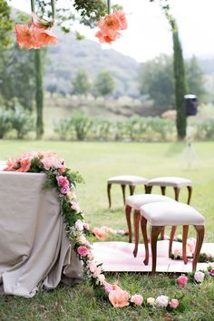 stunning ceremony floral decor