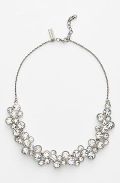 Crushing on this crystal and silver bib necklace.