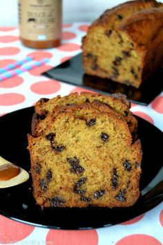 Chocolate Chip Banana Bread with Dulce de Leche