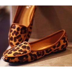 leopard print maternity flat shoes