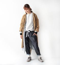 VC-1192 Denim shirring pants - Back Number Sale - Veritecoeur(ヴェリテクール)
