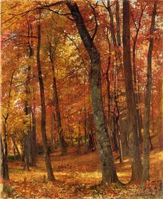 Forest Interior, William Trost Richards. American painter who specializes in the Adirondacks.