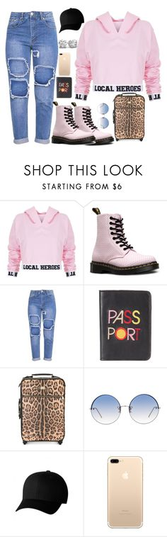 """""""Hoodie Season"""" by fashionluver55 ❤ liked on Polyvore featuring Local Heroes, Dr. Martens, Lizzie Fortunato, Dolce&Gabbana, Linda Farrow, Flexfit, imagine, preferences, imagines and oddcombo"""