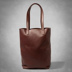 Womens Baggu Classic Leather Tote | Womens New Arrivals | Abercrombie.com
