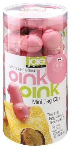 MSC Joie Oink-Oink Mini Bag Clips, Set of 24 by Harold Import Company, Inc., http://www.amazon.com/dp/B0073Z65PO/ref=cm_sw_r_pi_dp_Ze7Rrb1NZVJ4E