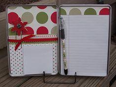 Holiday DVD Tin Organizer