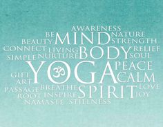 Yoga Mind Body Spirit Contemporary Word Art Print 11x14 Motivational - Inspiration - peaceful