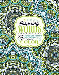Inspiring Words Coloring Book: 30 Verses from the Bible You Can Color: Zondervan: 9780310757283: Amazon.com: Books