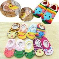 1 Pair Cute Lovely Infant Toddler Baby's Cartoon Pattern Ankle Socks Anklet Trainer Socks £2.99