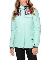 Aperture Heaven Mint Floral 10k Snowboard Jacket