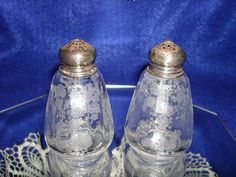 CAMBRIDGE ROSEPOINT SALT and Pepper Shakers with by TimeTested, $45.00