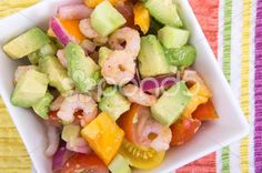 Shrimp and avocado summer salad - Stock Footage | by Juliedeshaies