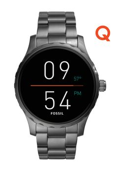 A can't go wrong holiday gift: the Q Marshal display smartwatch in smoke stainless steel.