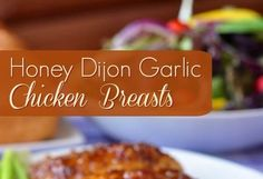 Boneless skinless chicken breasts quickly baked in an intensely flavored honey, garlic and Dijon mustard glaze. Appetizer Recipes, Dessert Recipes, Desserts, Yummy Recipes, Dinner Recipes, Appetizers, Do Nothing Cake, Spinach Lasagna Rolls, Bette
