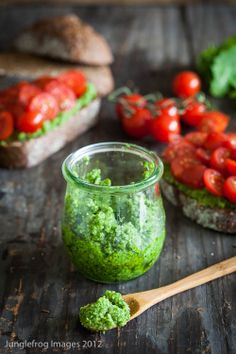 Goat Cheese Rocket Pesto