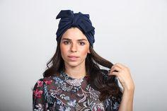on sale knit headband blue headband full by RonaHandmadeTurbans