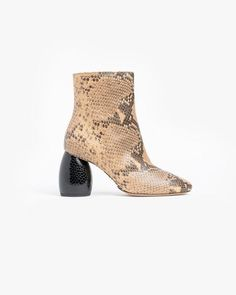 My jam...  Embossed Ankle Boot in Beige - http://www.mohawkgeneralstore.com/products/embossed-ankle-boot-in-beige