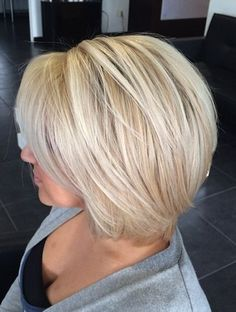 Go Platinum with Your Short Cut. Lovely short bob haircut that looks fab in…