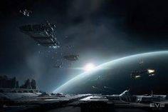 EVE Online, Space, Spaceship, Caldari Wallpaper