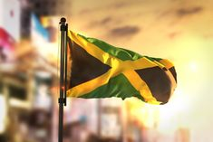 Photo about Jamaica Flag Against City Blurred Background At Sunrise Backlight Sky. Image of lens, backlight, flag - 92749068 Bad Memories, Media Logo, See Videos, Brain Activities, Blurred Background, My Heritage, School Life, You Are Awesome, How To Be Outgoing
