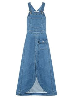 See By Chloé Denim Dress with Rounded Hem