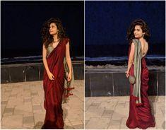 Suta Mithila Palkar Source by aashimasachdeva saree Saree Designs Party Wear, Saree Blouse Designs, Handloom Saree, Salwar Kameez, Lehenga, Anarkali, Sarees For Girls, Saree Poses, Saree Photoshoot