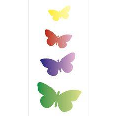 Трафарет для рисования Простых 7x15 Бабочка OPA1947 - Опа - PalacioDaArte