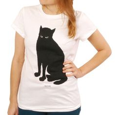 Noir Cat Tee Women's, 22€, now featured on Fab.