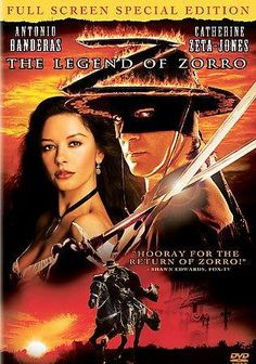 Catherine Zeta Jones captivated audiences and shot to stardom via her role as Elena in the 1998 take on the Zorro legend, MASK OF ZORRO. This sequel, set in 1850, finds her married to Alejandro, aka Z