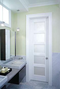 Interior Door With Frosted Glass Bathroom   Google Search