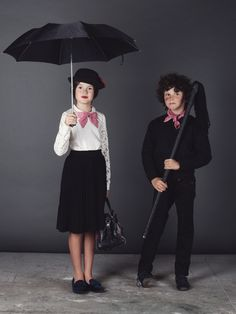 Halloween Costumes Mary Poppins and The chimney Sweep