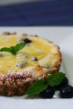 Blueberry Lemon Goat Cheese Tart from @Jenn L Fenster / What's Cooking with Doc