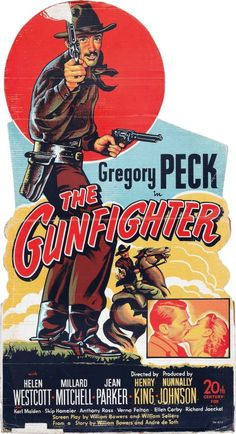 THE GUNFIGHTER (1950) - Gregory Peck - Directed by Henry King - 20th Century-Fox - Insert Movie Poster.