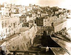 Marina Gate circa showing moat and bridge Old Pictures, Old Photos, Vintage Photographs, Vintage Photos, Malta Valletta, Malta Island, Fortification, Capital City, Paris Skyline