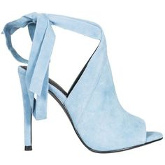 Turquoise Evelyn Sandals ($139) ❤ liked on Polyvore featuring shoes, sandals, blue, womenshoessandals, rubber sole sandals, blue high heel shoes, strap sandals, strappy high heel sandals and turquoise shoes