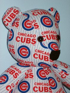 Cubs Teddy Bear Chicago Brown Eyes Cuddle Buddy Snuggle by DoOver