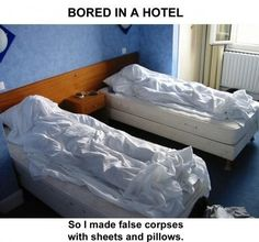would hate to be the housekeeper who got this room